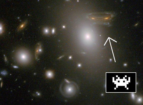 La galaxie Space Invaders?