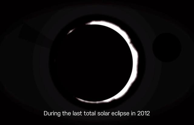 Une Étoile Noire ou un ovni lors de l'éclipse solaire totale de 2012