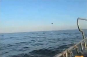 Un ovni abattu par des avions de chasse filmé par des pêcheurs galicien