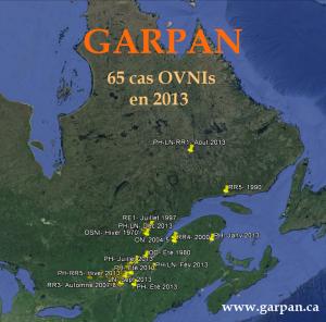 Les 12 meilleurs cas OVNIs du GARPAN en 2013