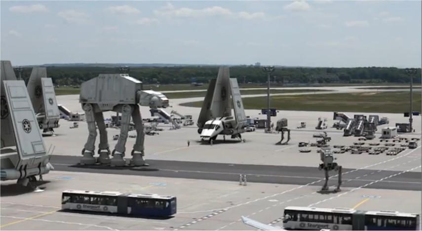 Star Wars : à quoi ressemblerait un aéroport s'il était envahi par l'Empire