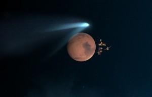 La comète Siding Spring a changé l'atmosphère de Mars