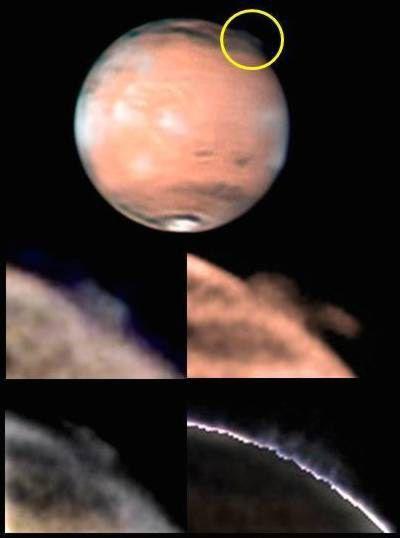 Un étrange panache nuageux dans l'atmosphère de Mars