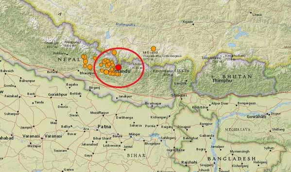 Réplique de 6.9 ressentie au Népal et en Inde