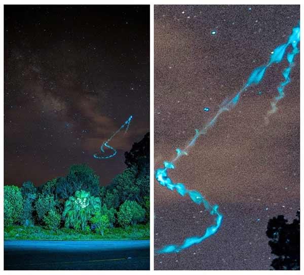 Un OVNI bleu photographié à Taïwan