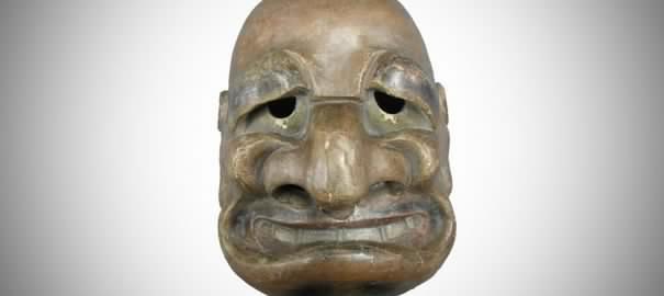 Un masque japonais du XVIIIe siècle sosie de Jacques Chirac !