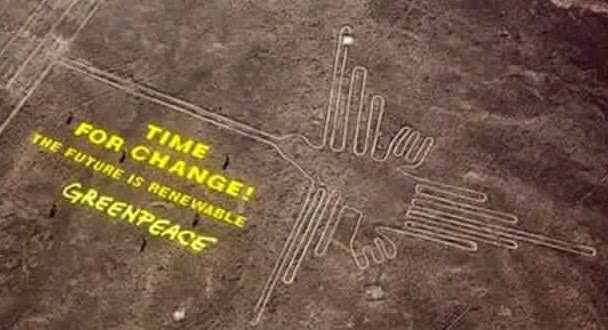 Greenpeace pourrait avoir endommagé définitivement un des sites des lignes de Nazca au Pérou