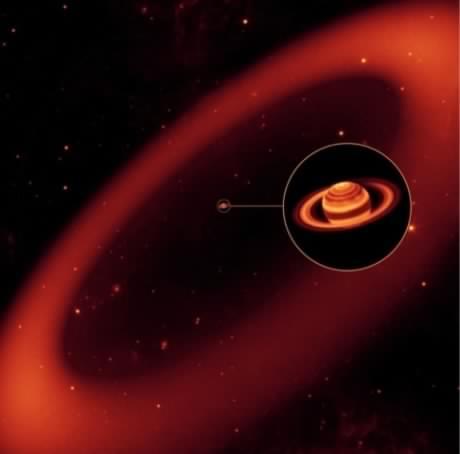 Autour de Saturne, un anneau invisible… et gigantesque