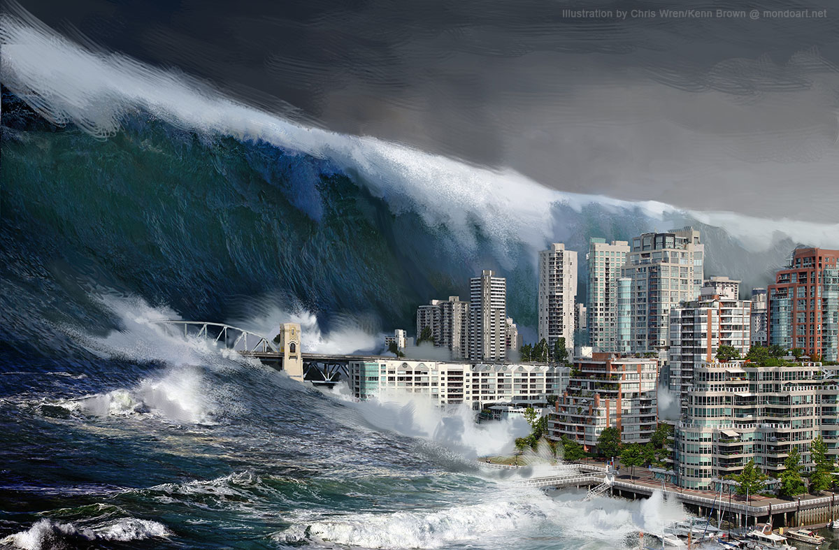 La Terre bientôt dévastée par un tsunami géant?