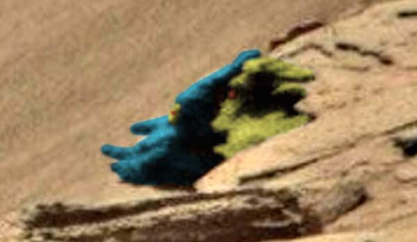 Des visages comiques trouvés sur Mars