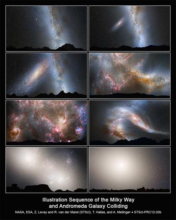 Des scientifiques russes créent une simulation vidéo de notre galaxie qui entre en collision avec Andromède