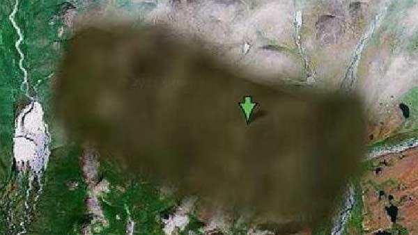 Plusieurs sites classés secret défense pixelisés par Google Earth