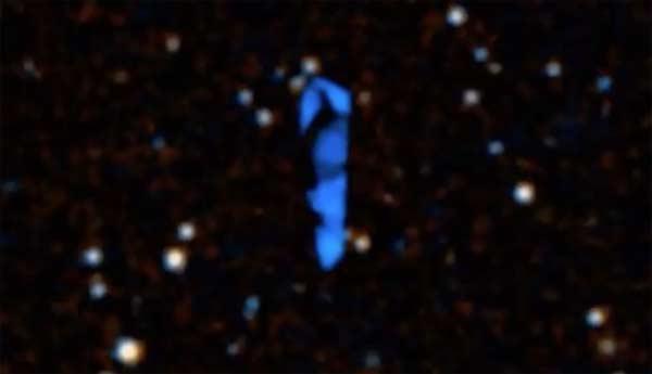 Un gigantesque Ovni bleu trouvé dans Google Sky Map