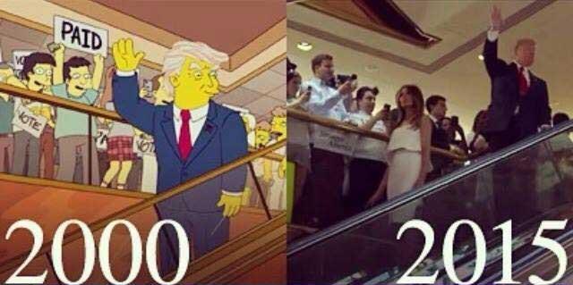 Il y a 16 ans, les Simpson prévoyaient la montée au pouvoir de Donald Trump