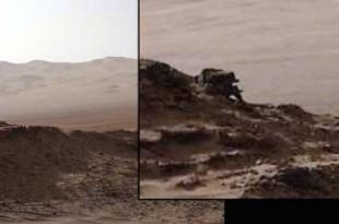 Une méga créature qui bouge sur Mars dans des photos du Rover