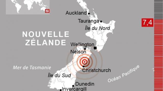 Fort séisme de 7.4 en Nouvelle-Zélande