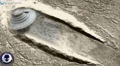 Le Crash d'un Ovni d'Un Kilomètre de Diamètre retrouvé sur un site martien!