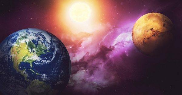 Vidéo: La Terre et Mars vont entrer en collision