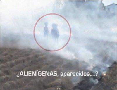 Un cercle de céréale et des aliens