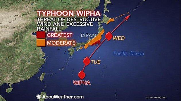 Japon : le typhon Wipha va frapper la centrale nucléaire de Fukushima