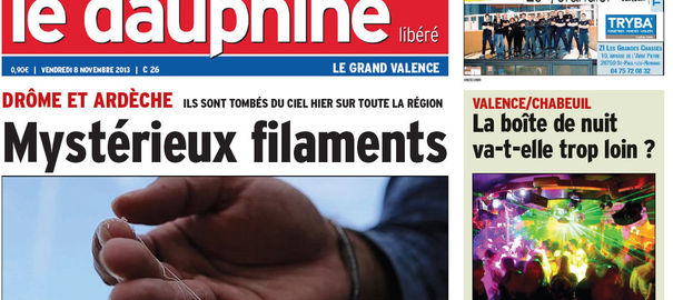 Drôme-Ardèche: le mystère des filaments tombés du ciel