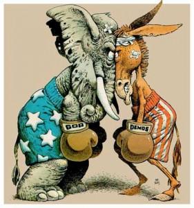 Les logos des 2 principaux partis politiques américains sont sataniques