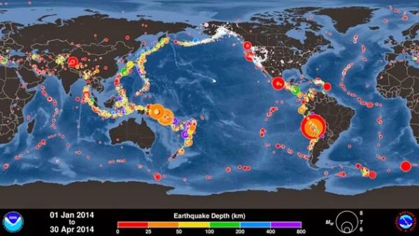 Nombre record de séismes au mois d'Avril !
