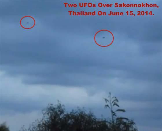Deux ovnis noirs dans le ciel thaïlandais