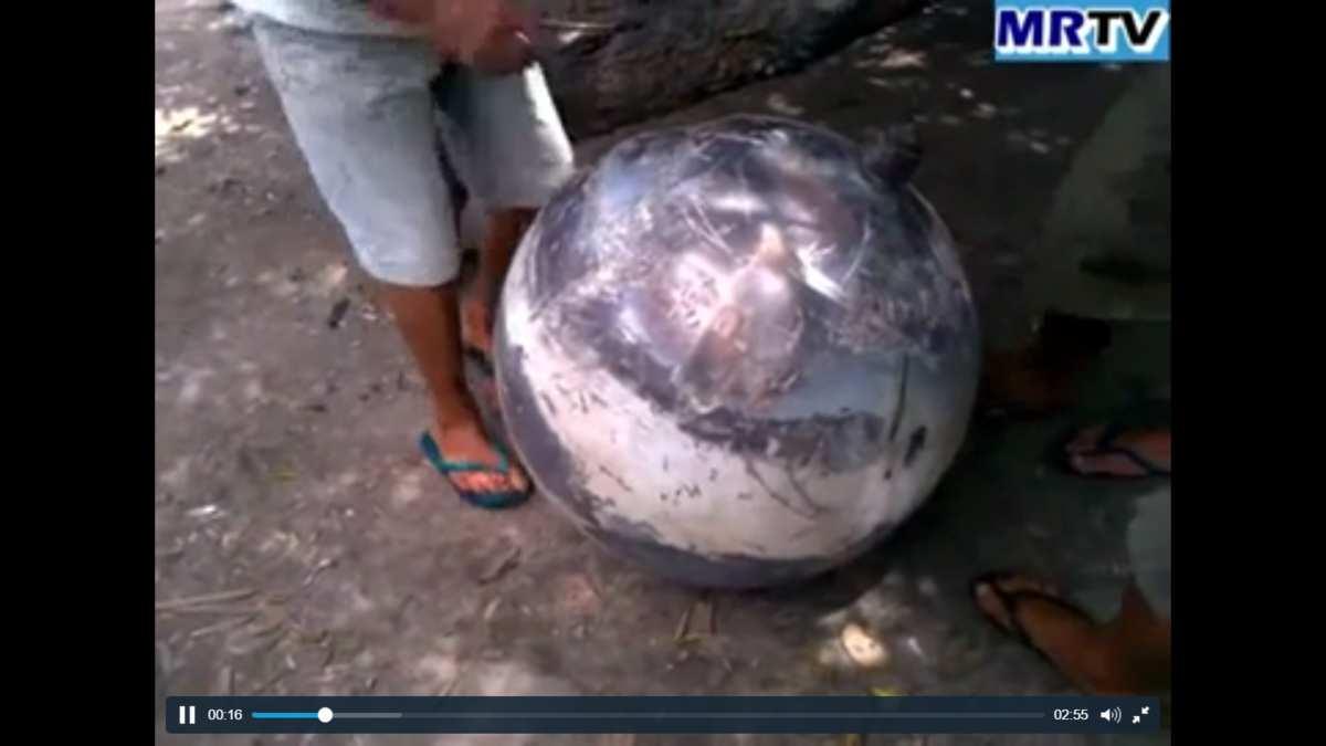 Une mystérieuse boule métallique de 50 kg s'écrase au Brésil