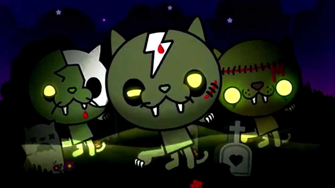 Un chat zombie sort de sa tombe