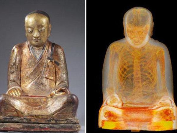 Une statue de Bouddha cachait... une momie !