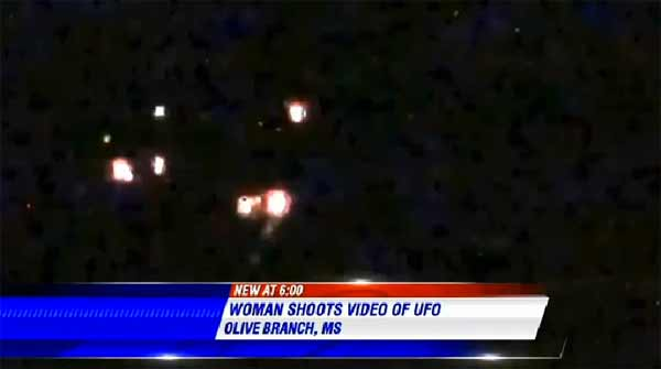 Une femme a filmé un OVNI au dessus du Mississippi