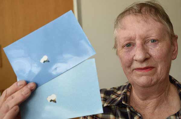 Une grand-mère a photographié un Ovni qui survolait Peterborough, Angleterre