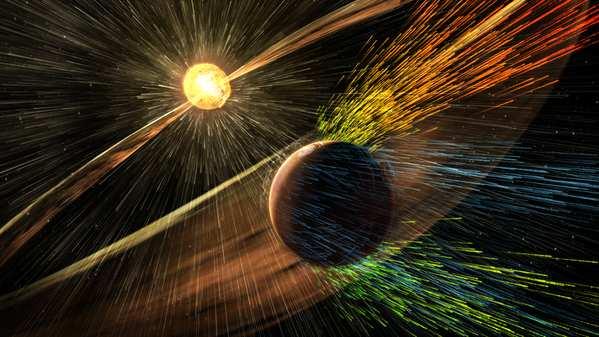 Les éruptions solaires ont détruit l'atmosphère de Mars