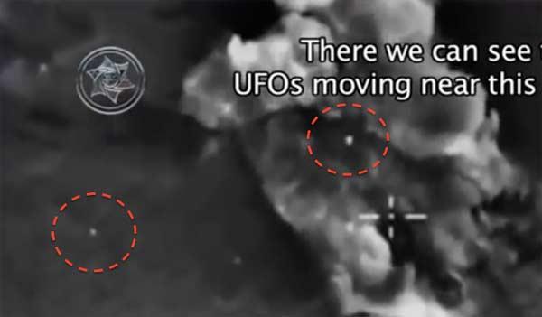Deux ORBES extraterrestres filmées par des caméras Infrarouge lors d'un bombardement militaire en Syrie