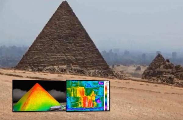 Une mystérieuse anomalie de chaleur détectée à l'aide d'un capteur infrarouge sur la Pyramide de Khéops