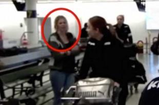 Une Pléiadienne disparait dans un aéroport en direct à la télévision Danoise !