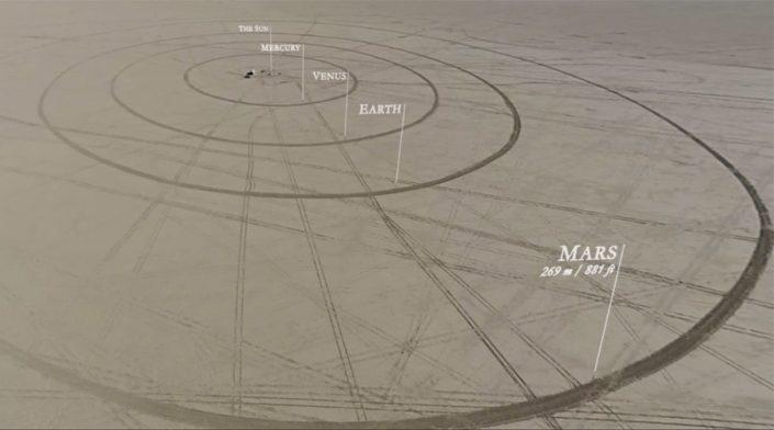TO SCALE: THE SOLAR SYSTEM: UNE MAQUETTE DE NOTRE SYSTÈME SOLAIRE DANS LE DÉSERT