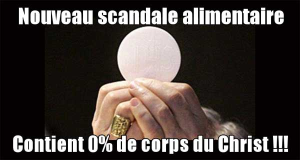 Les hosties contiennent 0% de corps du Christ d'après un test ADN