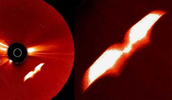 Vidéo: Un gigantesque OVNI en forme de Papillon a été repéré près du Soleil