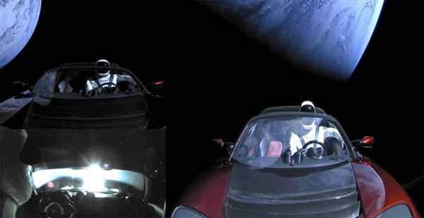 Vidéos: Plusieurs ovnis repérés aux abords de la voiture Tesla dans l'espace