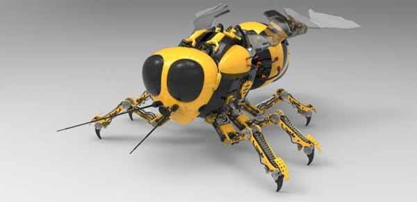 La NASA finance un projet pour créer des abeilles avec des ailes énormes pour prélever des échantillons sur la planète Mars