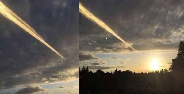 Vidéo: Un immense faisceau lumineux s'est activé dans le ciel de Sacramento