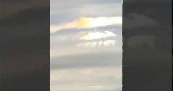 Un homme a filmé un étrange phénomène dans le ciel