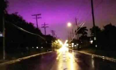 Le ciel devient VIOLET en Ohio, États-Unis