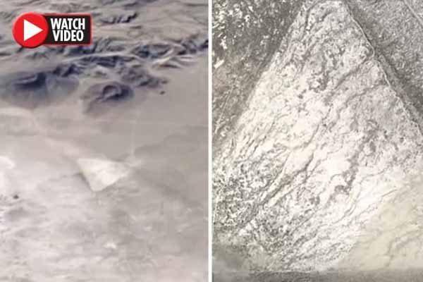 Google Earth expose un énorme triangle dans le désert du Nevada – déclenchant la théorie d'un CRASH d'OVNI