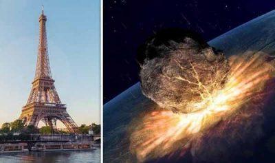Une astéroïde plus haute que la Tour Eiffel pourrait s'ÉCRASER sur Terre en avril