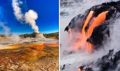 "Volcan de Yellowstone : Comment ""UN POINT CHAUD"" force le magma à s'élever sous le supervolcan"
