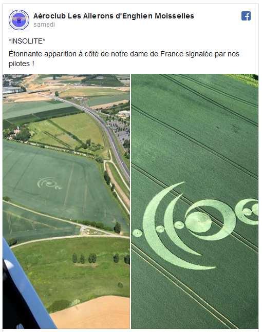 Un crop-circle apparaît dans un champ de la région parisienne