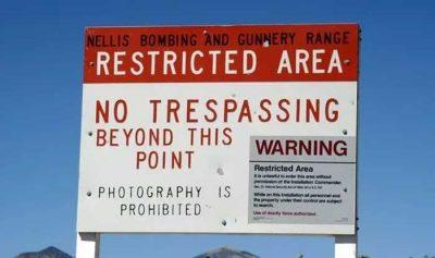 Zone 51 : Un homme a été abattu pour avoir tenté de pénétrer dans la base militaire